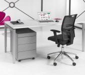 Luxe Bureau aluminium 80x80cm
