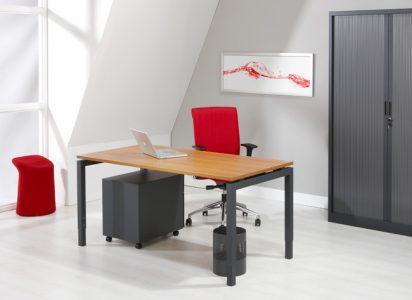 Luxe Bureau Antraciet 80x80cm