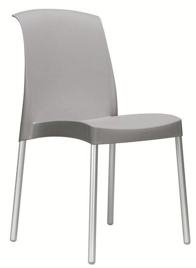 Kantinestoel modern grijs