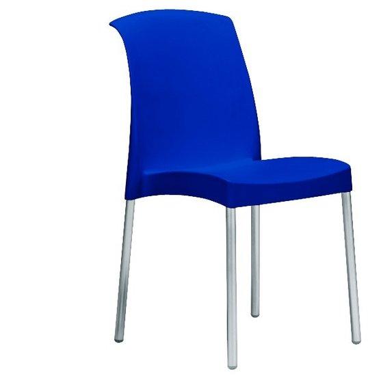 Kantinestoel modern blauw