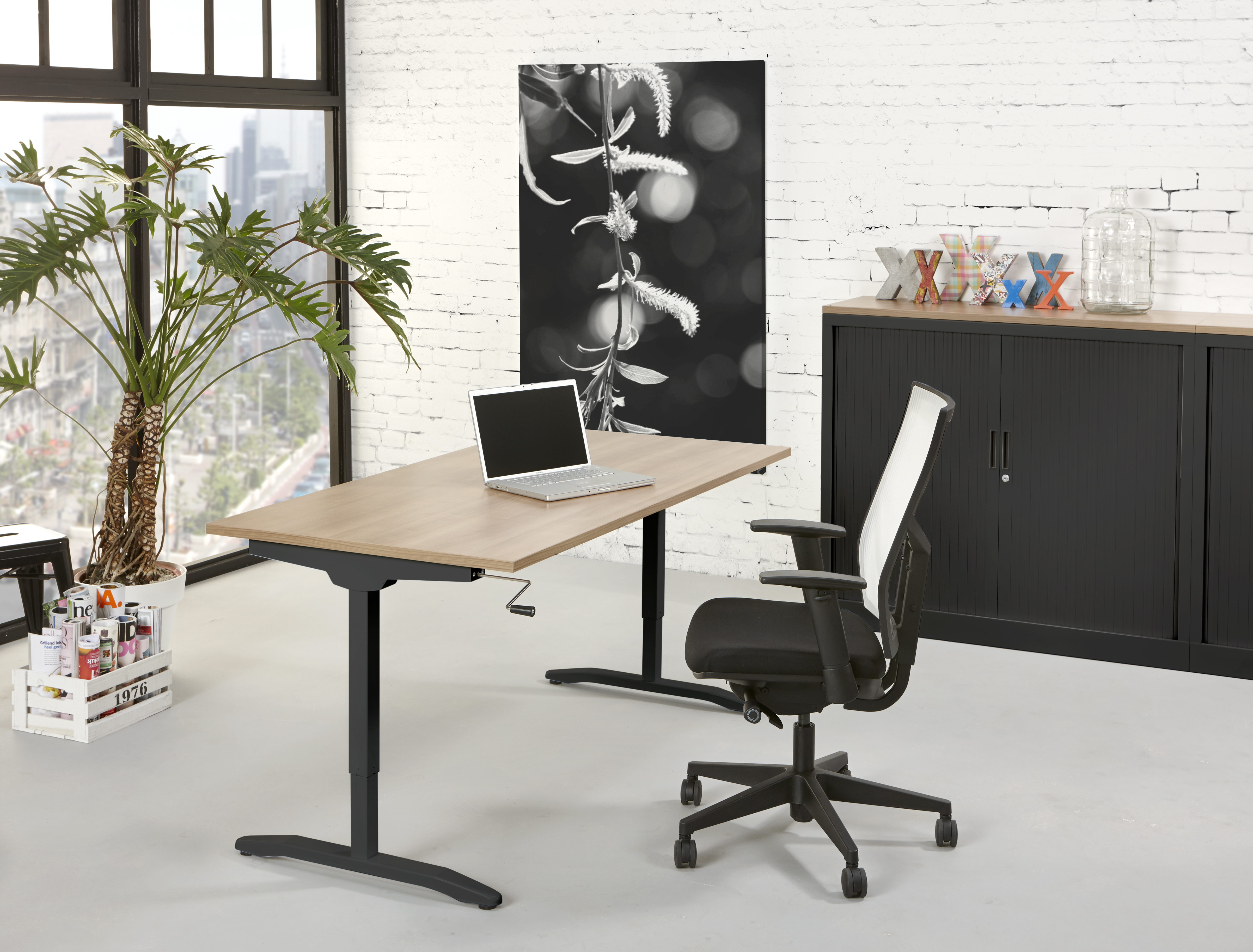 bureau slinger 120x80cm havanna. Black Bedroom Furniture Sets. Home Design Ideas
