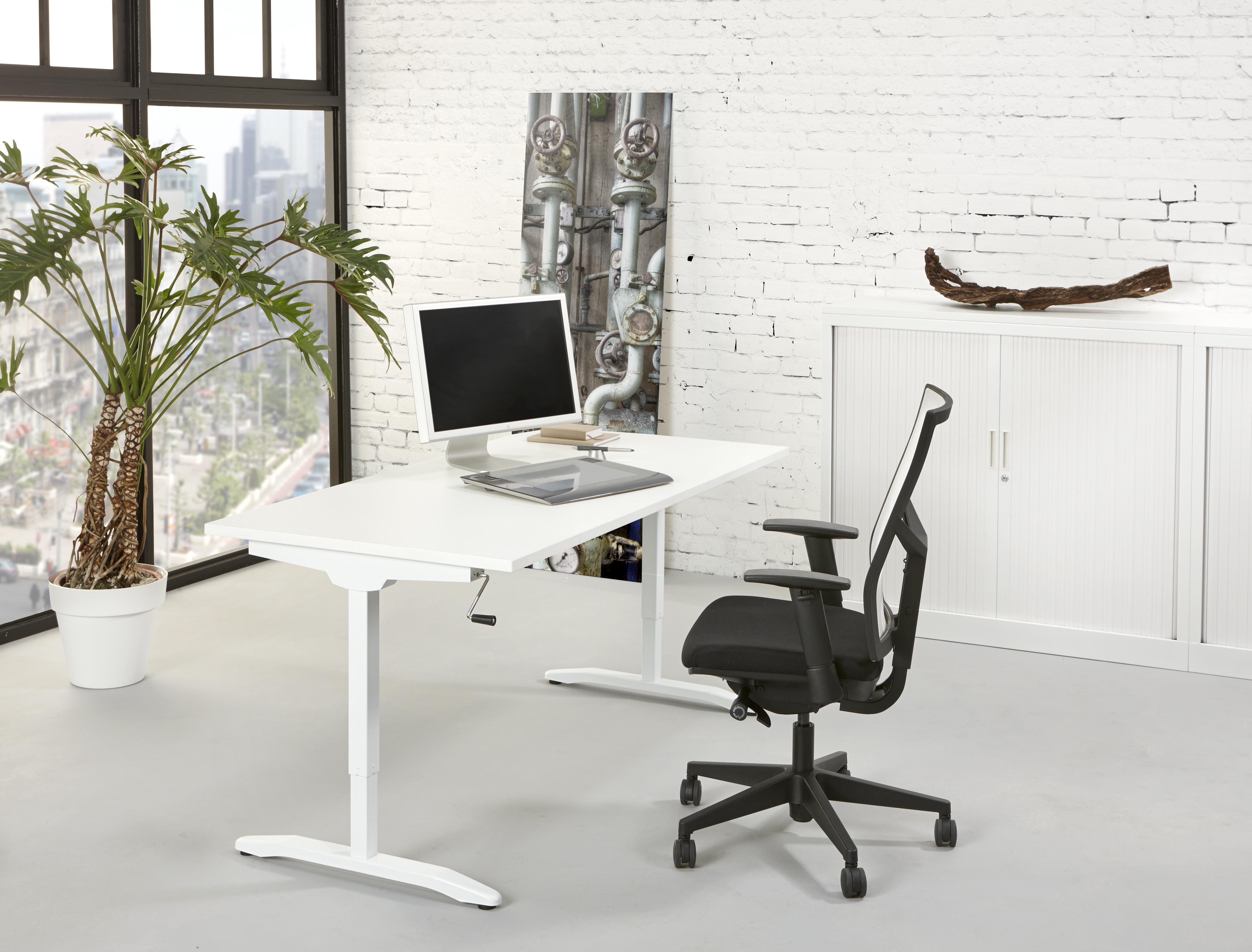 bureau slinger 140x80cm wit. Black Bedroom Furniture Sets. Home Design Ideas