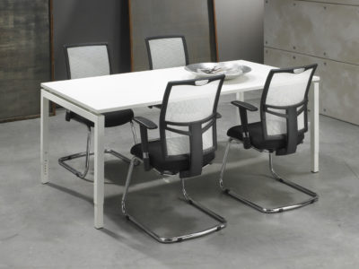 Bureau vergadertafel Wit 200x100cm