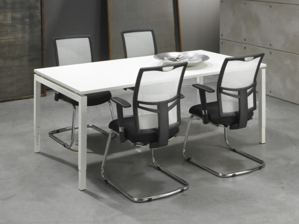 bureau vergadertafel wit 200x100