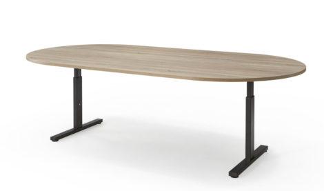 Ovale vergadertafel 240x120cm