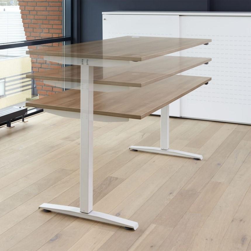 elektrische zit sta bureau 160 x 80 cm verstelbaar 62 130 cm. Black Bedroom Furniture Sets. Home Design Ideas