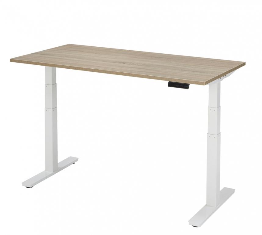 elektrische zit sta bureau 120 x 80 cm verstelbaar 62 130 cm. Black Bedroom Furniture Sets. Home Design Ideas