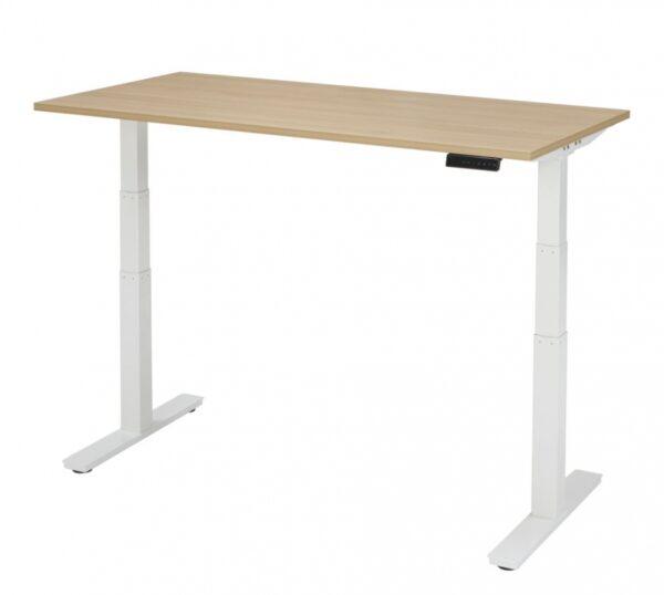 Elektrische zit sta bureau 140 x 80 cm verstelbaar 62 130 for Bureau 130x70