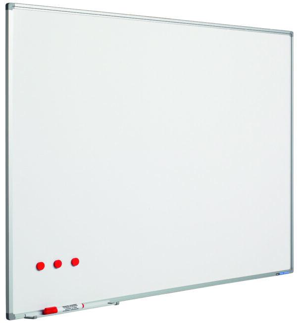 Whitebord Softline profiel 8mm, emailstaal wit-30x45 cm