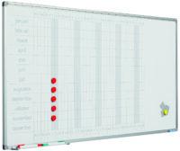 Planbord Softline profiel 8mm Jaar NL, incl. dagstroken-60x120 cm