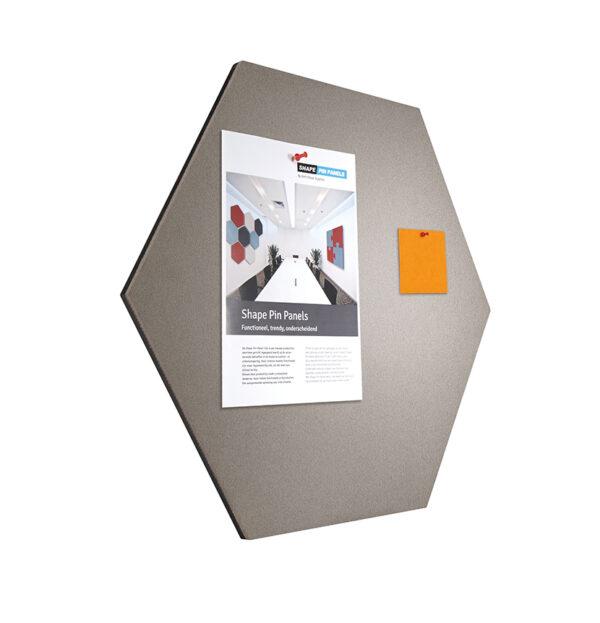 Shapes Pin Panel bulletin , Six-Square, grijs 1 stuk-Ø 60 cm