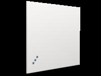 Whitebord Frameless emailstaal wit-60x90 cm