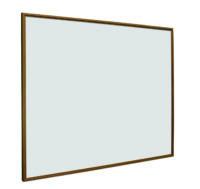Whitebord Softline profiel 16mm Eiken-houtlook, emailstaal wit-60x90 cm