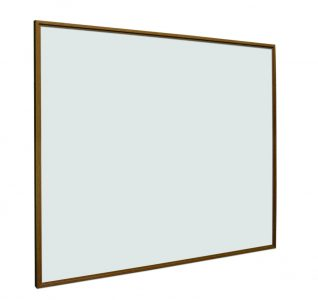 Whitebord Softline houtlook, wit