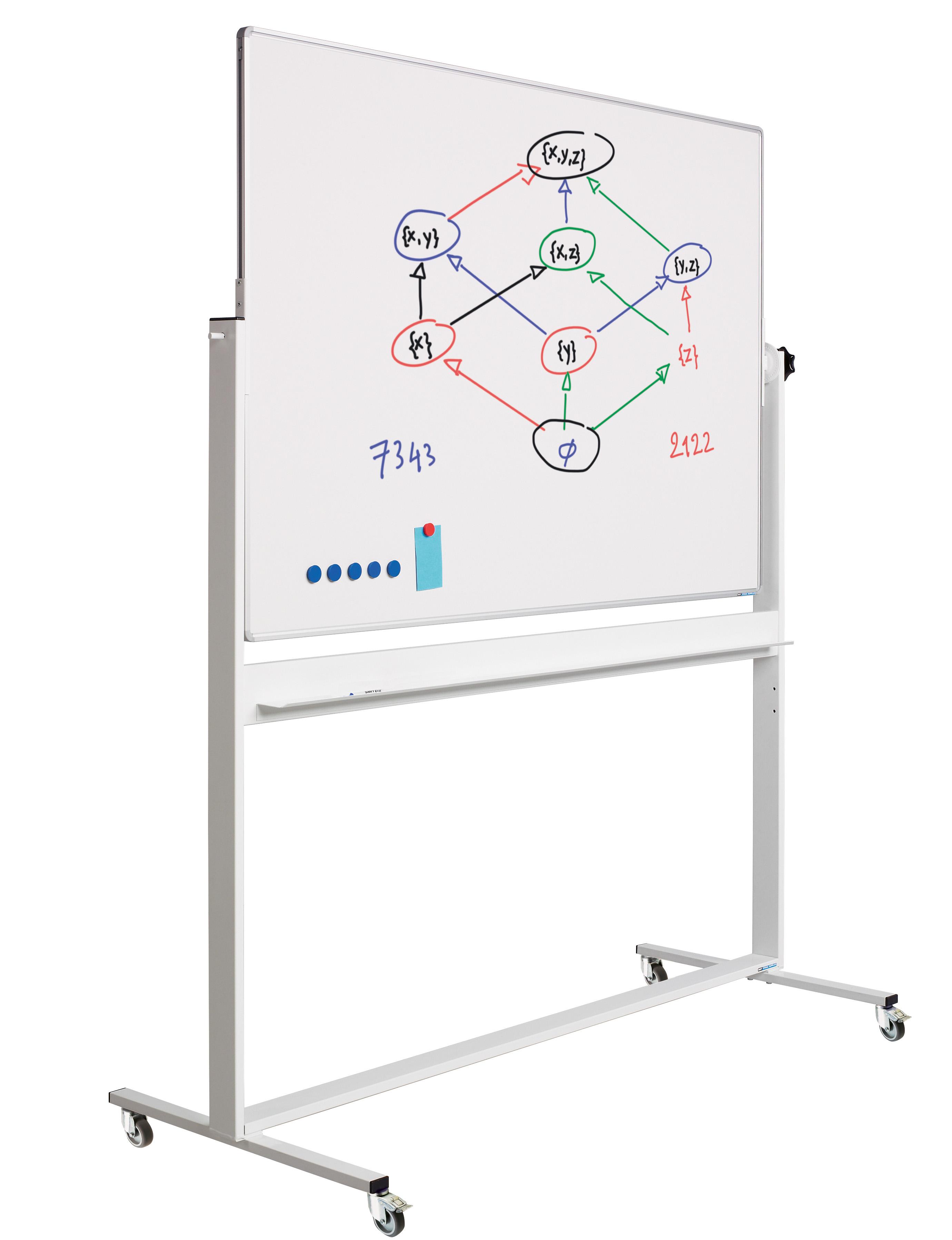 Kantelbord Standard RC10mm profiel, gelakt staal wit/wit-90x120 cm