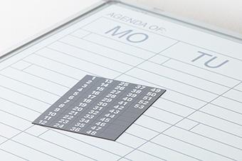 Planbord Softline profiel 8mm Week NL-60x120 cm