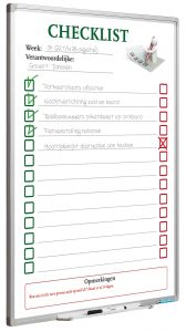 Full Colour planbord, Softline Checklist NL-90×60 cm