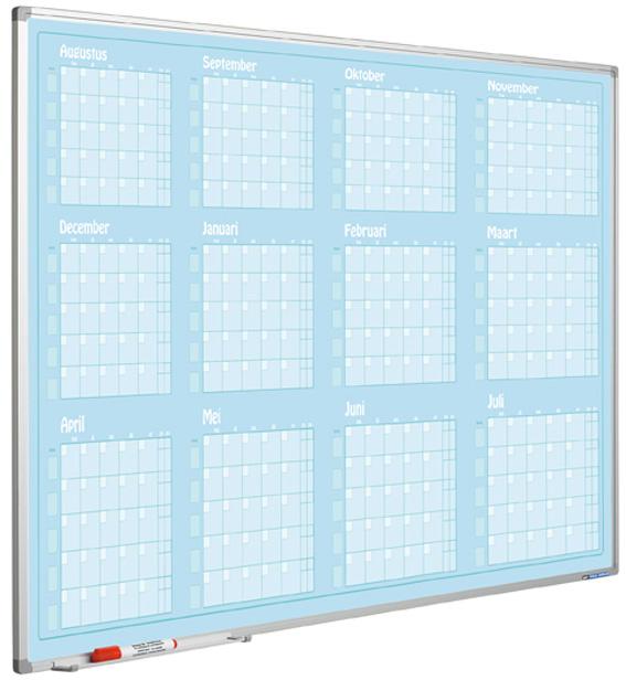 Jaarplanner blauw, Softline profiel, Jan- Dec, NL-90x120 cm
