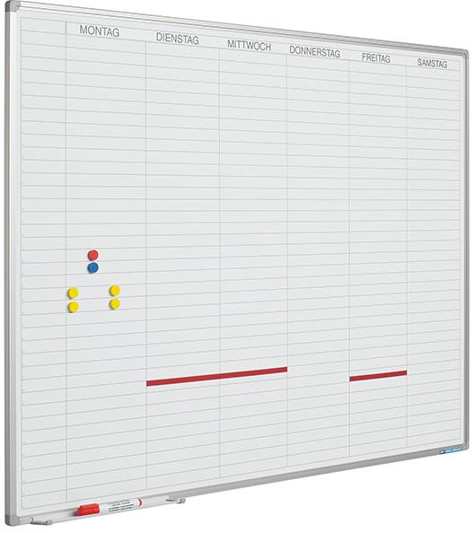 Planbord Softline profiel 8mm Werkdagen, NL incl. dagenstrook-90x120 cm