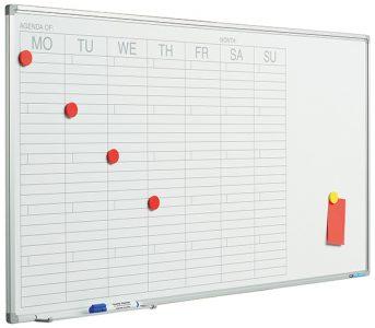 Planbord Softline profiel 8mm Week NL-60×120 cm