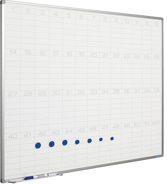 Planbord Softline profiel 8mm Jaaroverzicht