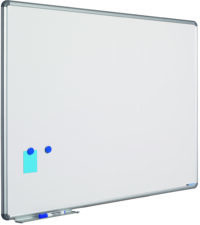 Whitebord Design profiel 16mm, emailstaal wit-45x60 cm