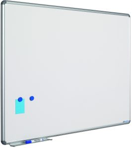 Whitebord Design profiel 16mm, emailstaal wit