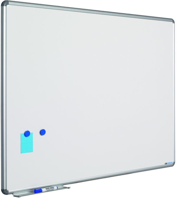 Whitebord Design profiel 16mm, emailstaal wit-45x60 cm