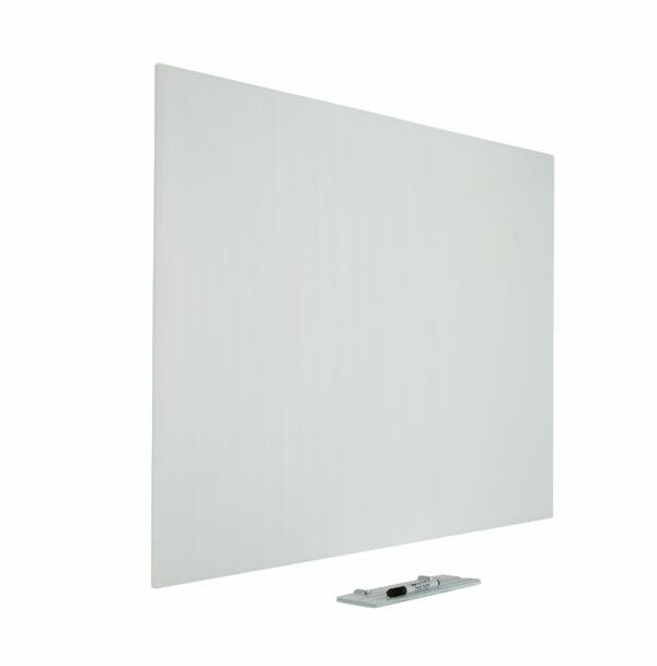 Glasbord Premium, verborgen ophang, magnetisch, wit
