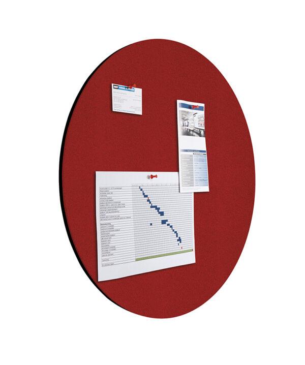 Shapes Pin Panel bulletin , Round, rood 1 stuk-Ø 60 cm