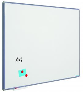 Whitebord Silverline, gelakt staal wit