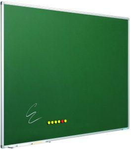 Krijtbord Softline profiel 8mm, emailstaal groen