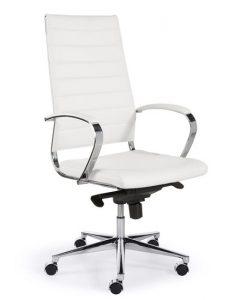 Comfortabele bureaustoel design wit