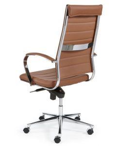 Comfortabele bureaustoel design bruin