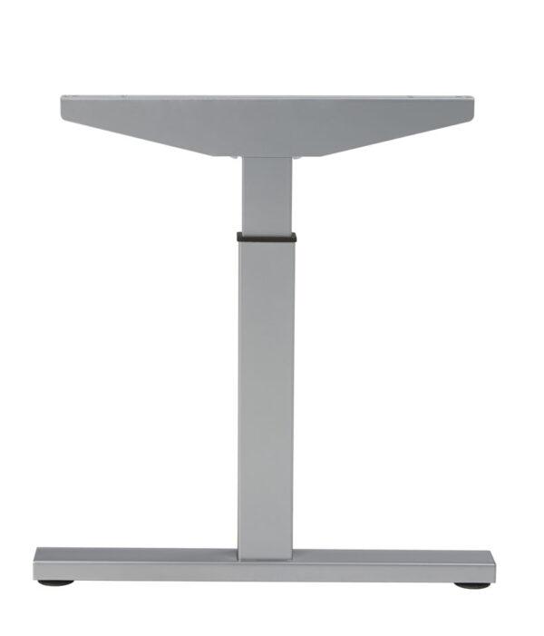 Bureau Sophie 160x80cm - wit blad - aluminium