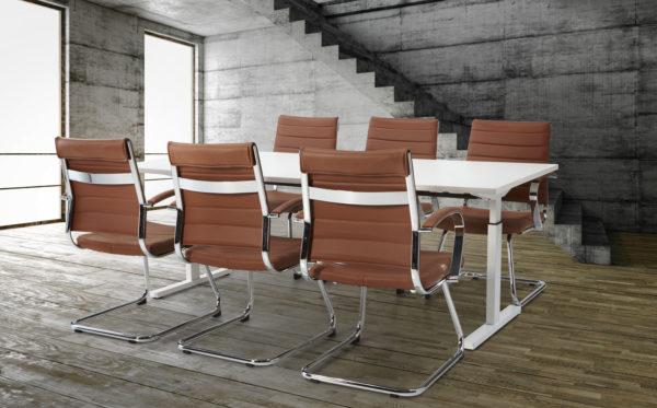 design vergaderstoel bruin