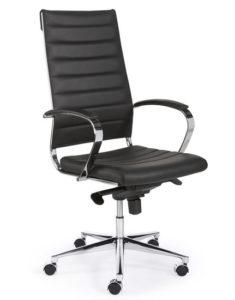 bureaustoel zwart hoge rug