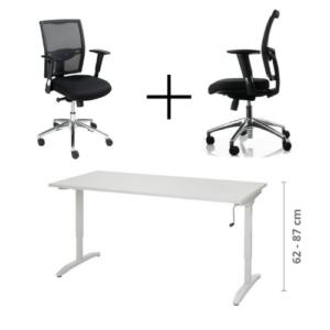 Thuiswerk deal bureau + bureaustoel