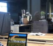 Plexiglas tussen scherm duo bureaus
