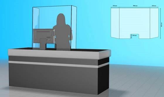 plexiglas baliescherm met zijkanten