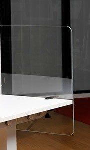 Plexiglas bureauscherm incl. bladklem